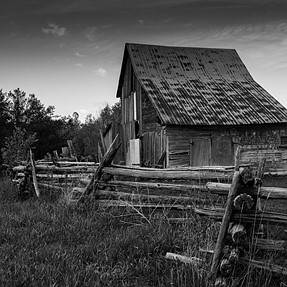 A couple old barns.