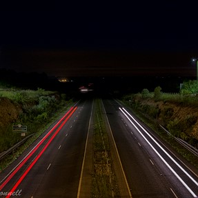 Night shot on the A41
