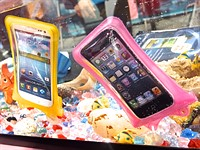 Smartphones go for a swim with waterproof cases