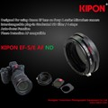 Kipon to produce Canon EF to Sony E-mount adapter with AF and slot-in ND grads
