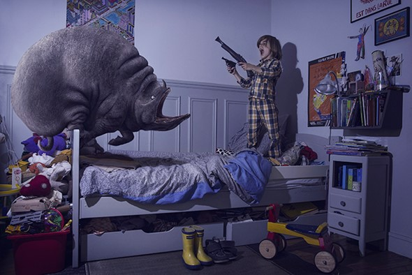 Photo series depicts children getting the better of their nightmares