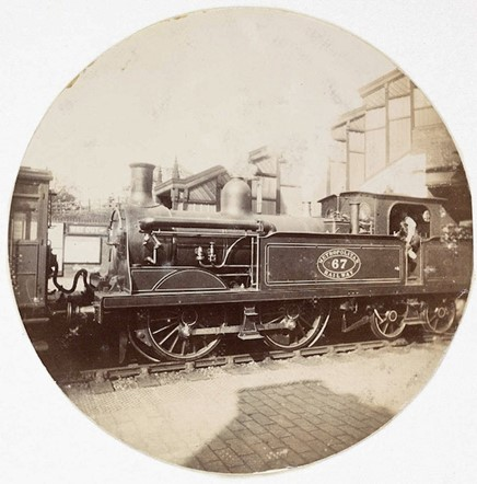 Metropolitan railway steam locomotive (<em>circa</em> 1890)
