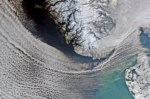 Images of earth from space: Snow in Scandinavia