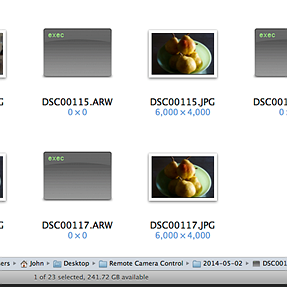 Why are RAW files shown like this in Finder?