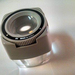 Cabin Light Panel and other Slide Viewers, 8x loupe