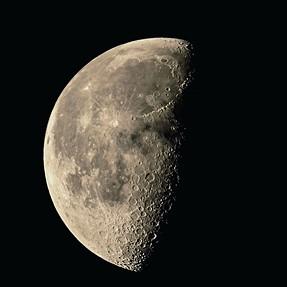 Last quarter moon, Nikon D5300