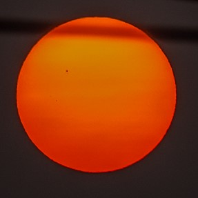 Dark spots on the sun