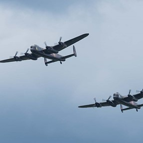 The  two Lancasters at Dunsfold