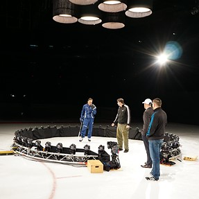 Backstage with the Tampabay Lightning NHL team and a 44 DSLR Virtual Dolly