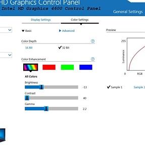 Monitor calibration W7 i5-4570