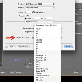 How to print custom sizes in PSE ?