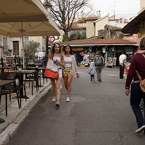 street scene from Athens, Greece