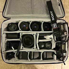 I love shooting with Sony because of their EVF! What's in your bag?