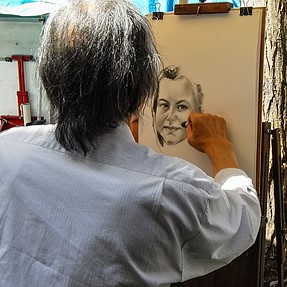 Portraitists at work