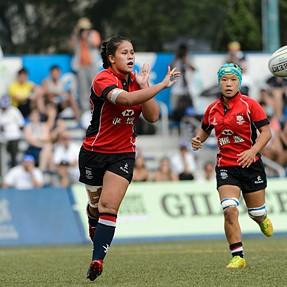 ARFU U20s 7 Series 2015 Women's 2nd runner-up match Hong Kong 41:7 Thailand