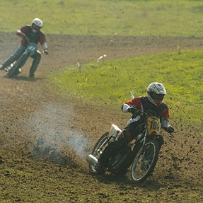 A day at the Grass track races .