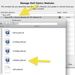 DxO Elite Pro lists wrong modules on their update page ???