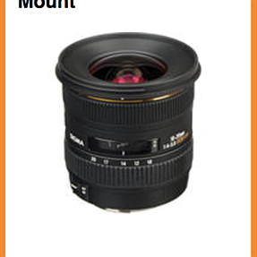 Sigma 10-20 lens on sale at B&H