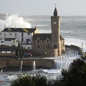 P900 and Storm Imogen at Porthleven, Cornwall.