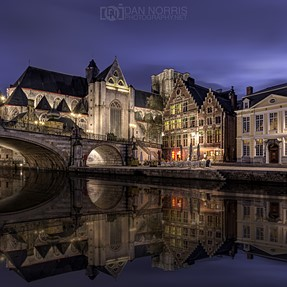 River reflection in Ghent, Belgium. (CC needed!)