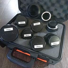 FOR SALE: Zeiss Contax C/Y Mount 6-Lens Set w/ Accessories