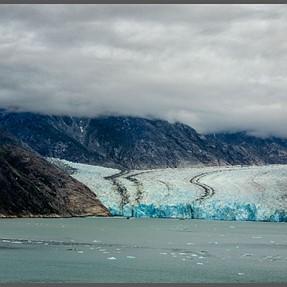 A glacier in motion